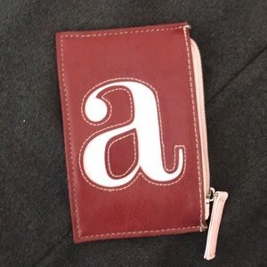 """NEW """"A"""" Monogrammed Small Coin Bag - Fits IPhone 7"""